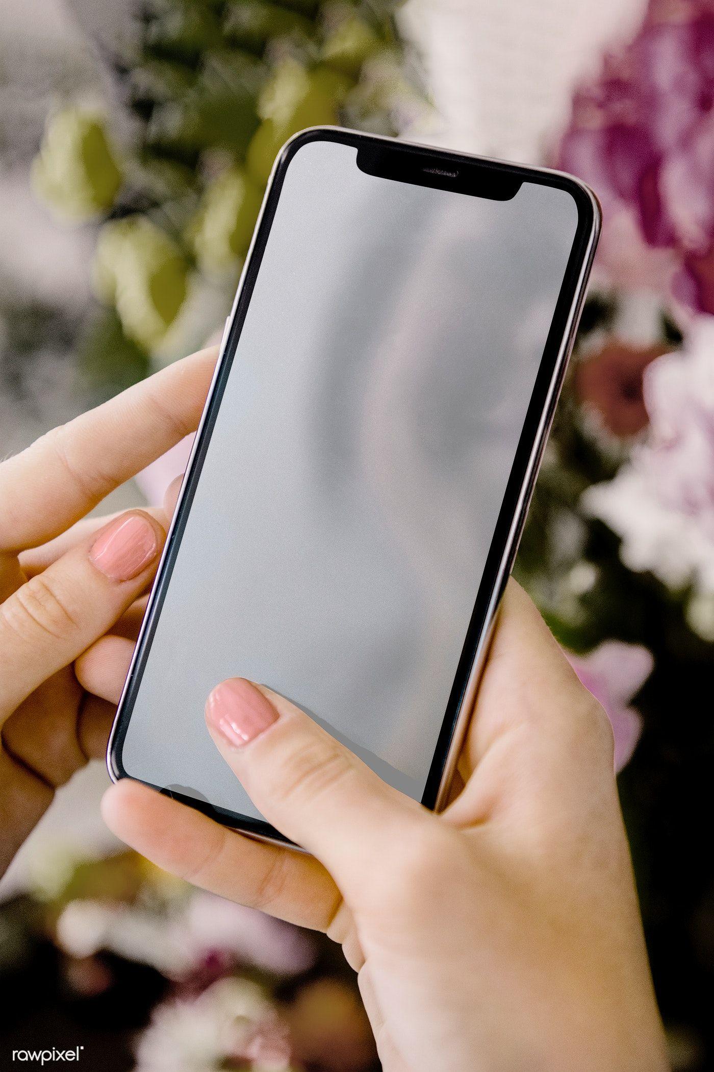 Download Premium Psd Of Woman Using A Mobile Screen Mockup 1210224 Phone Mockup Design Mockup Free Mockup
