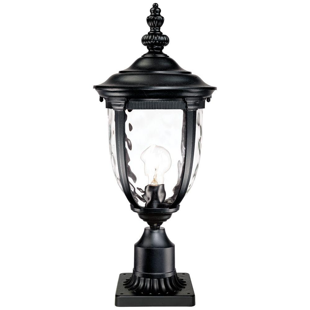 Bellagio 24 1 2 H Black Post Light With Pier Mount Adapter 17d93 Lamps Plus Outdoor Post Lights Outdoor Lighting Glass