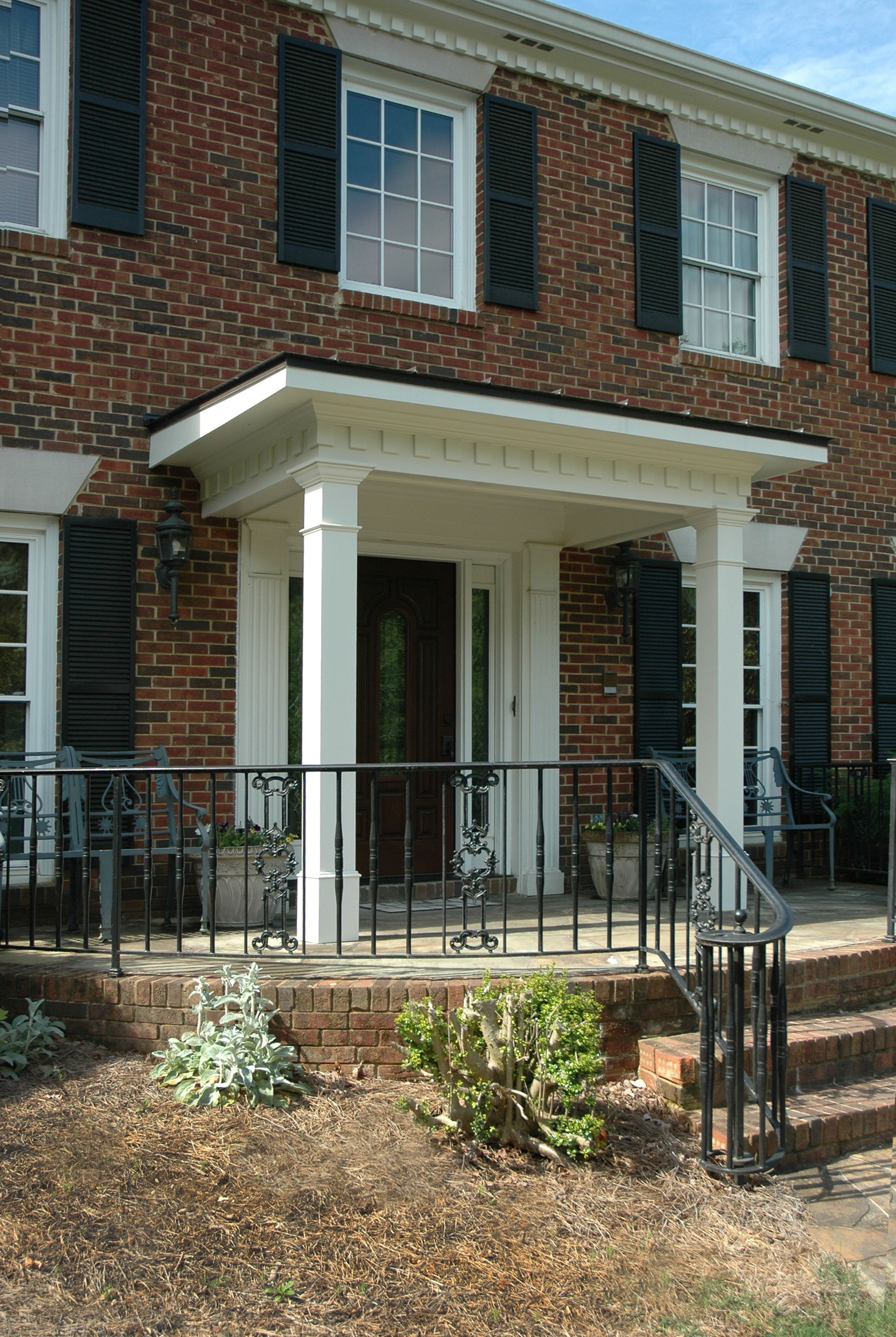 Flat Roof Portico Designed And Built By Georgia Front Porch Portico Design Porch Flat Roof Front Porch Design
