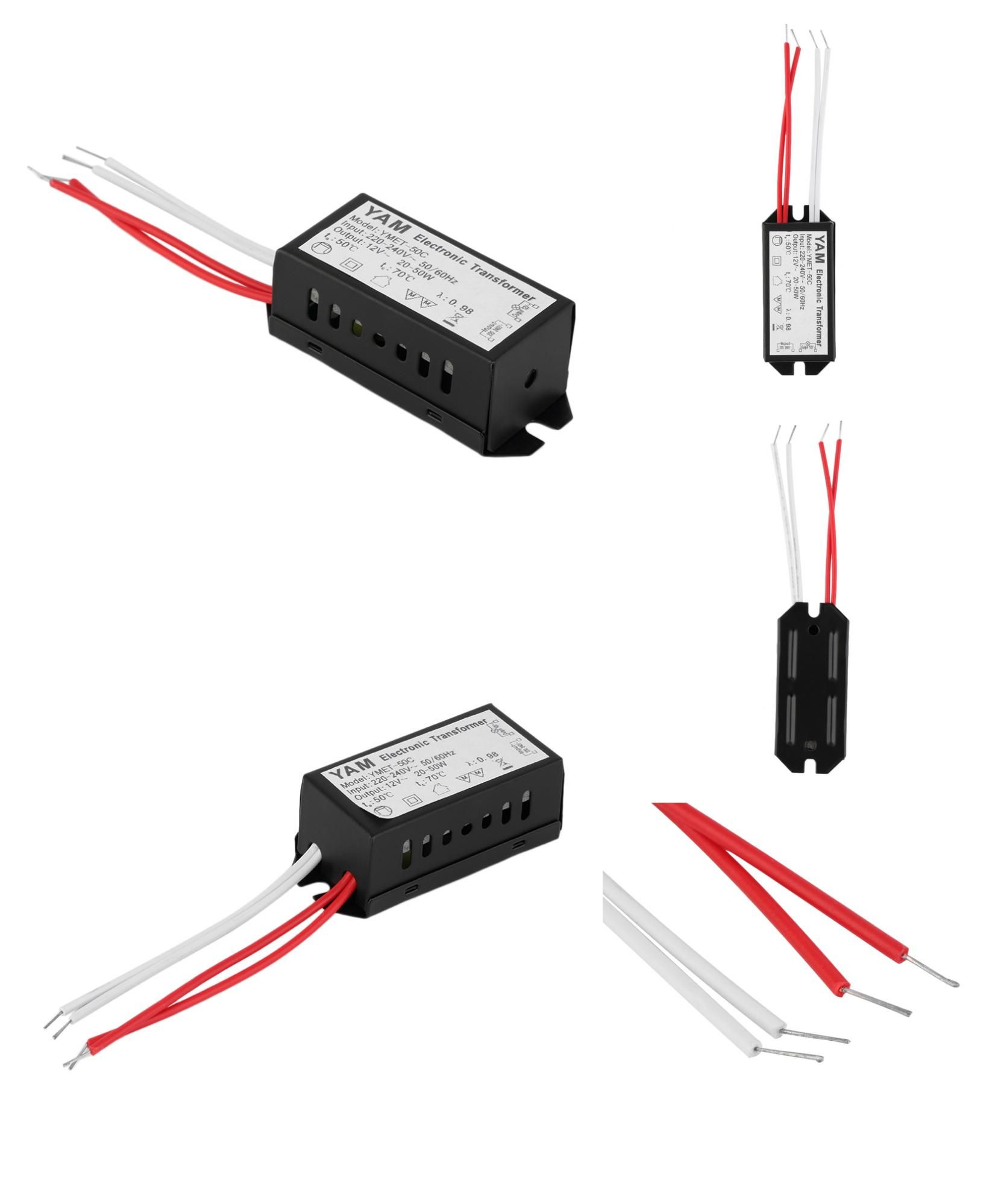 Visit To Buy 1pc Ac 220v To 12v Short Circuit Protection Halogen Lamp Electronic Transformer Power Supply Led Driver Adv Halogen Lamp Led Drivers Led Lights