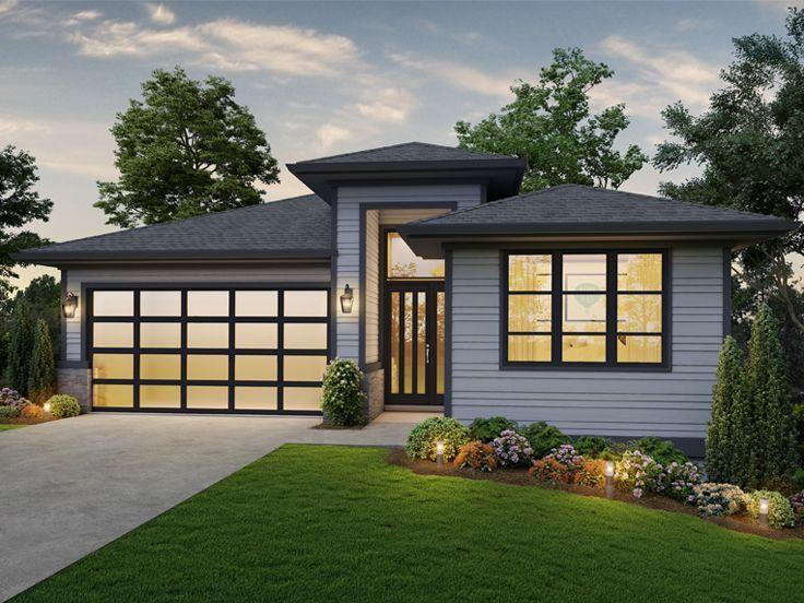 034H-0453: Modern Mountain House Plan Fits a Narrow Lot ...