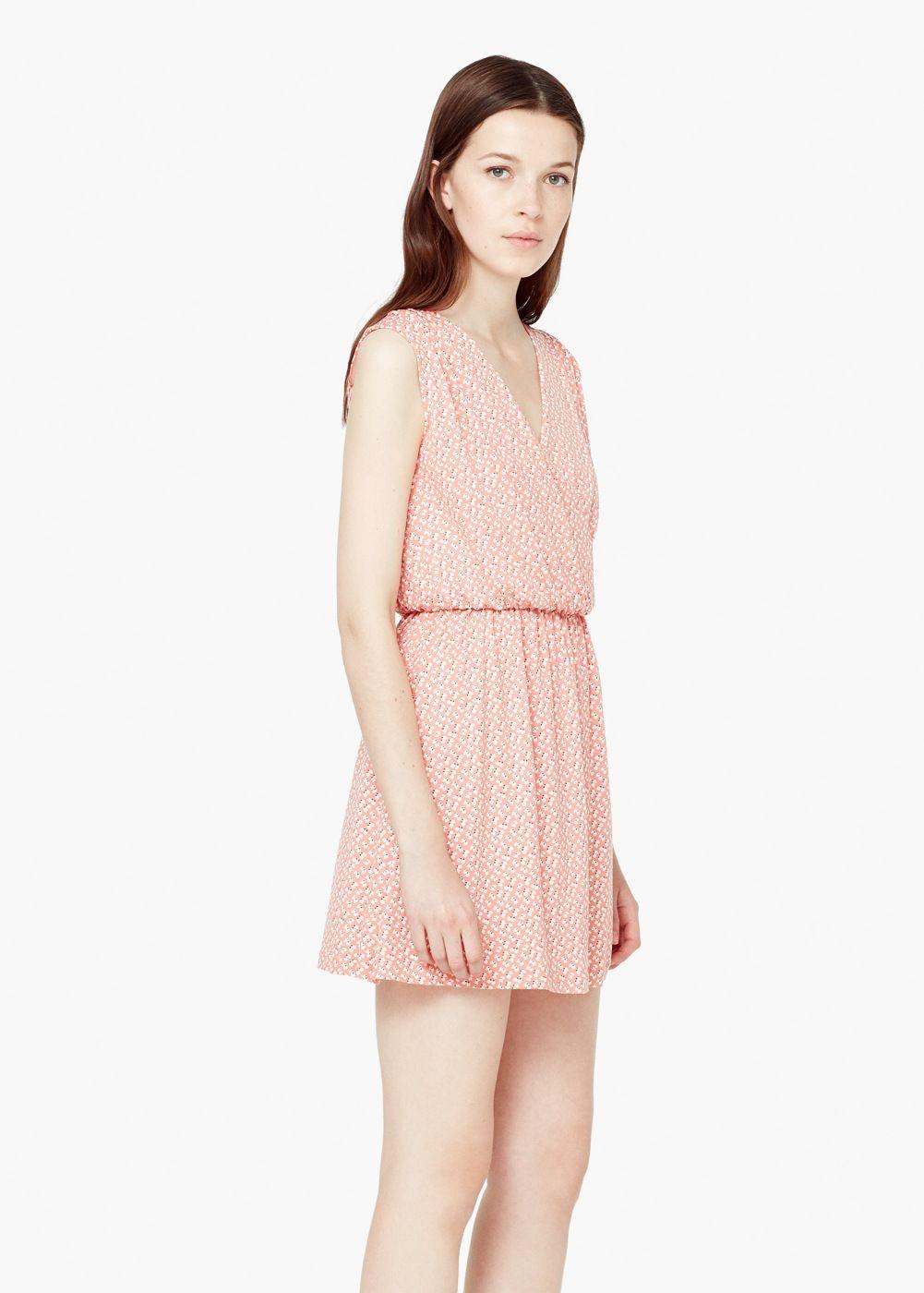 Šaty s překříženým výstřihem - Žena  975ba359fb5