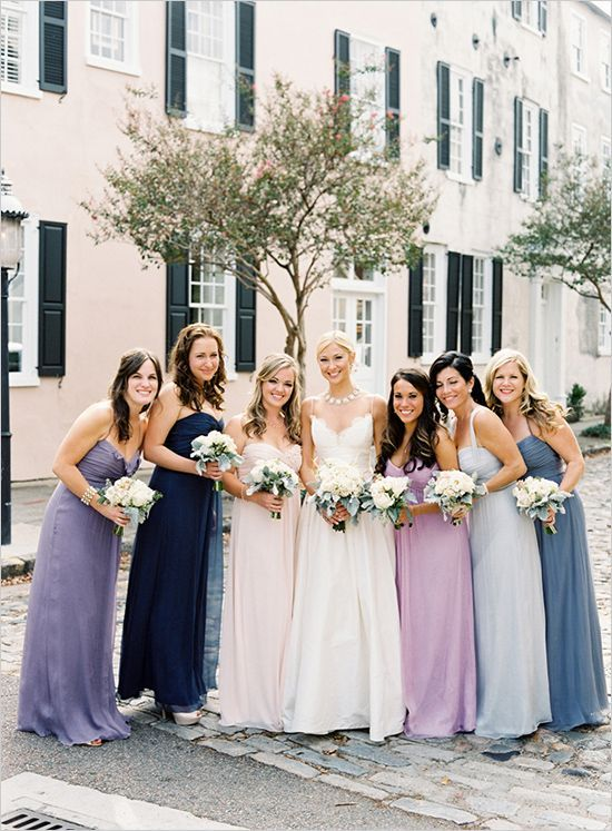 94c842ab8076 Mismatched Purple Bridesmaid Dresses I never get tired of all the different  options there are for mismatched bridesmaid dresses! When bridesmaids are  given ...