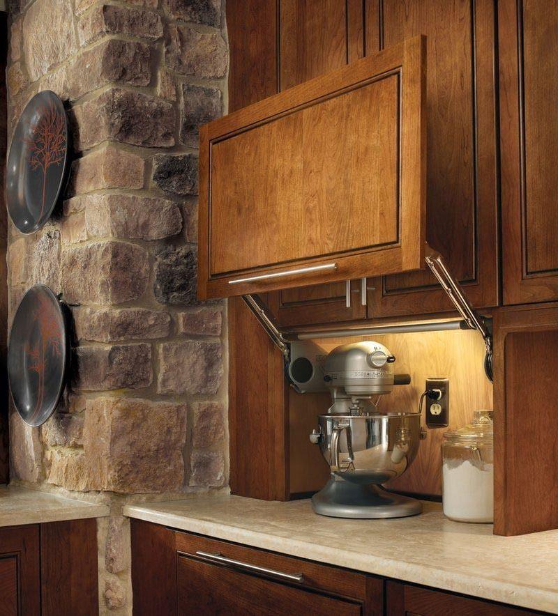 Kitchen Garage Cabinets: Wall Appliance Garage