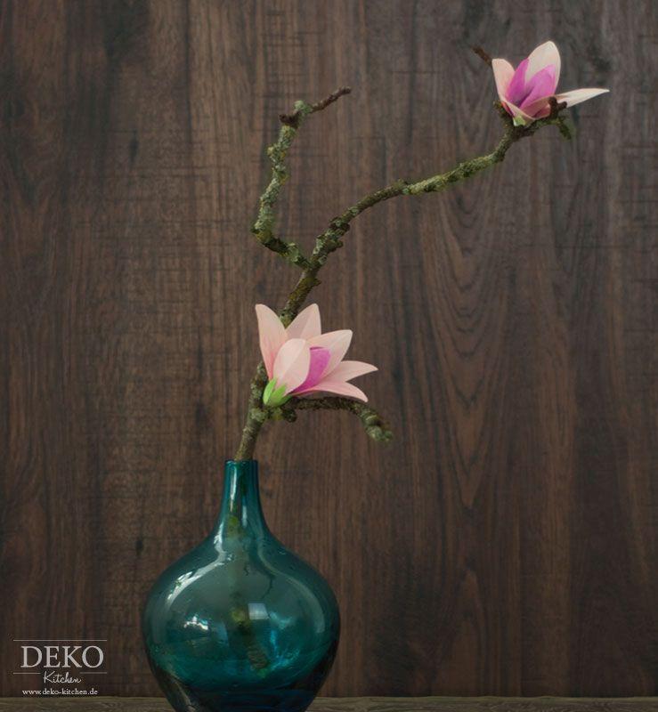 diy h bsche magnolienbl ten aus satin selber machen deko. Black Bedroom Furniture Sets. Home Design Ideas