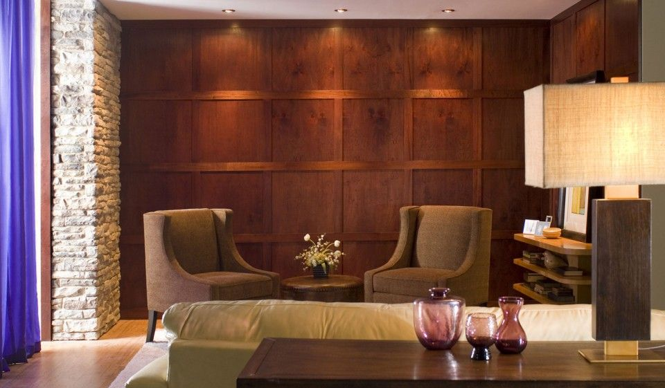 Rooms with wood panel walls home decorations 22 incredible wood wall paneling designs for Wall panelling designs living room