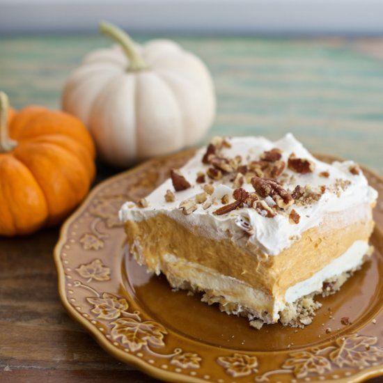 Layered Pumpkin Lasagna Dessert