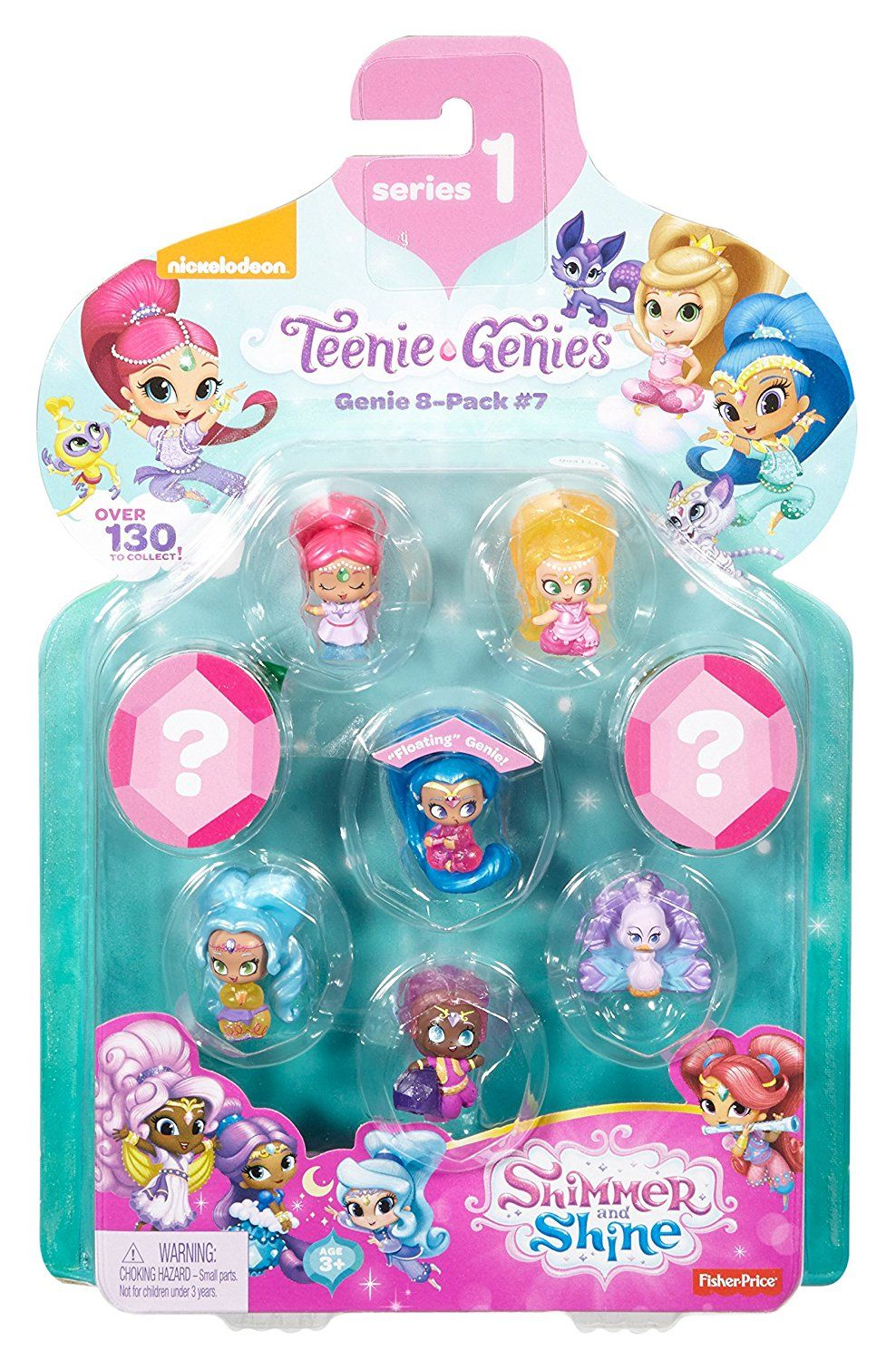 Amazon Fisher Price Shimmer Shine Teenie Genies Genie Toy 8 Pack 7 Toys Games