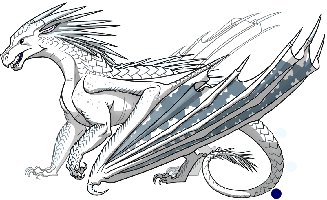 Snowfox Is A White Female Icewing With Scattering Of Gray Blue Png 1129x691 Base