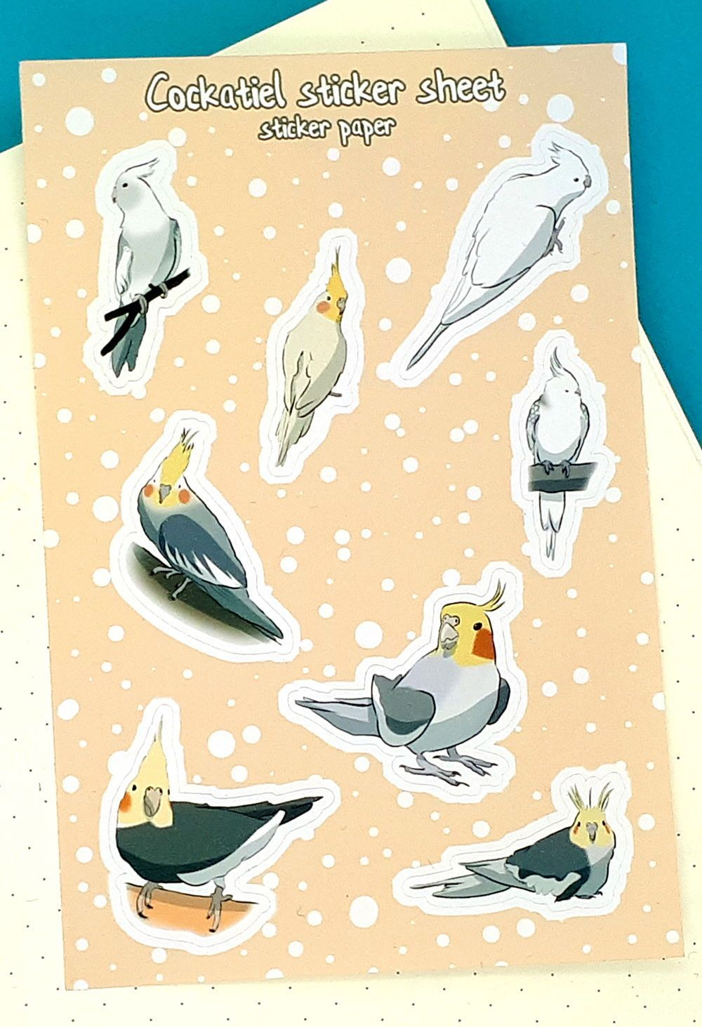 8 charming vinyl cockatiel stickers for your bullet journal | Etsy