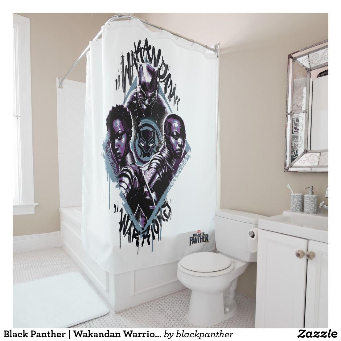 Black Panther Wakandan Warriors Graffiti Shower Curtain Zazzle