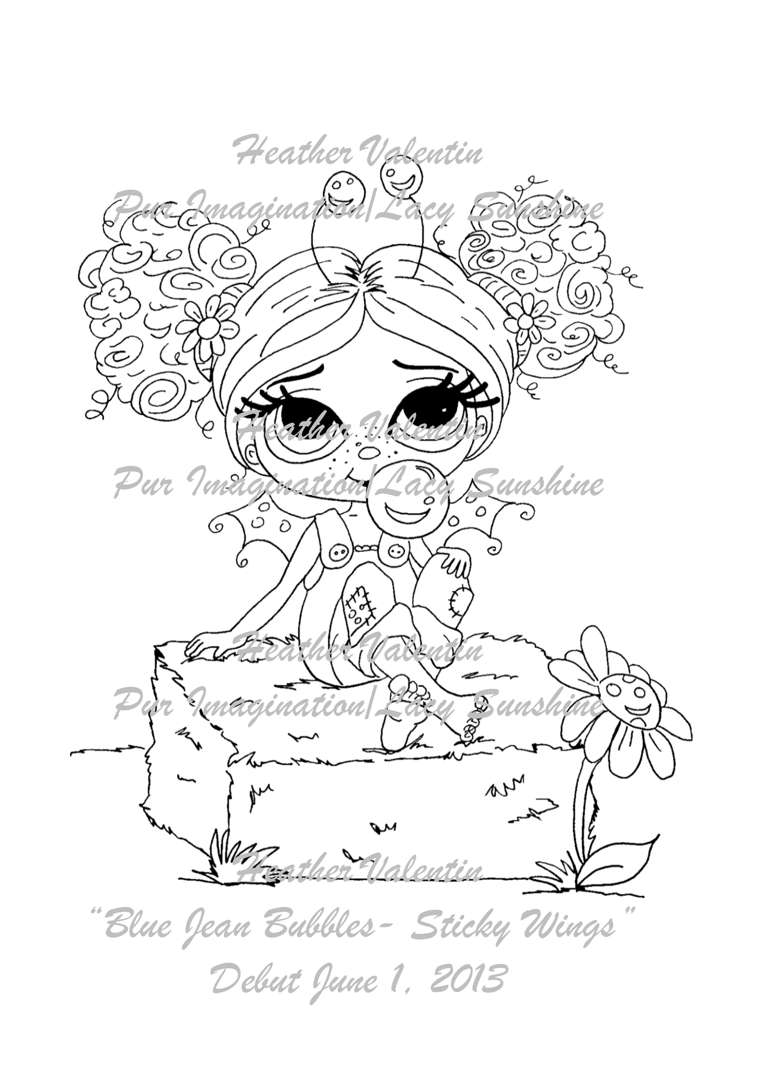 Bubbles Blue Jeans Digi Stamp Available Only At Www