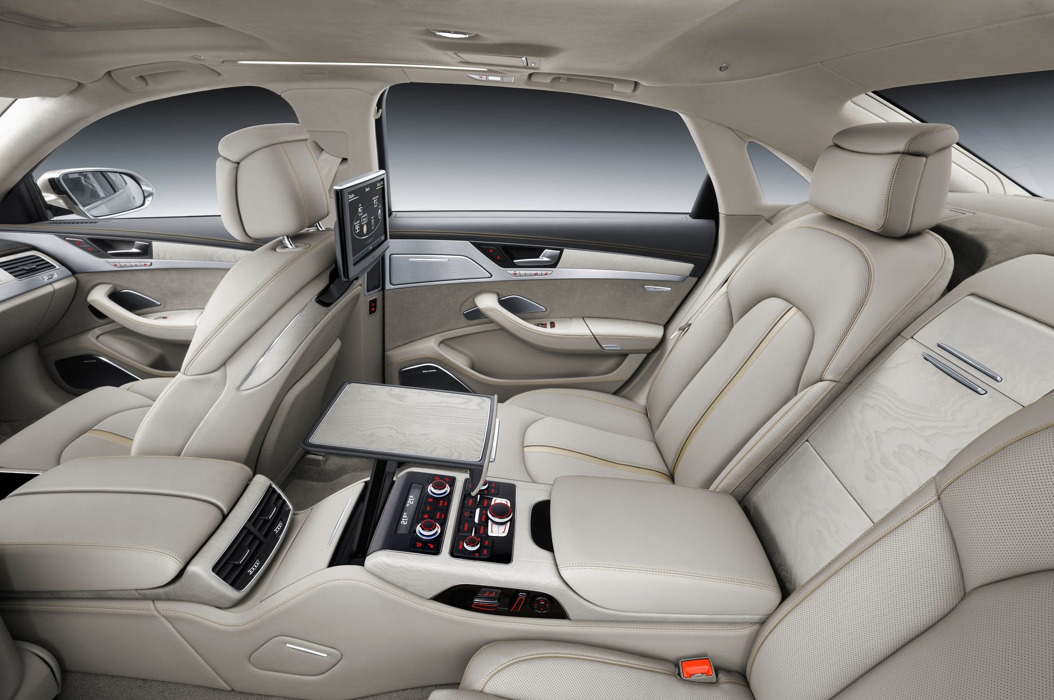 2015 Audi A8 Rear Interior Desktop Wallpaper Audi Wallpapers