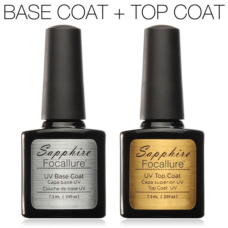 UV Top Coat + UV Base Coat Stiftung für UV Gel Polish Top es 30 tag lang anhaltende Sapphire Nagel Gel 7,3g