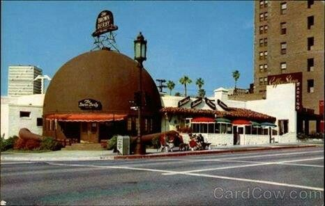 The Brown Derby Was The Name Of A Chain Of Restaurants In Los Angeles California The First California Postcard Brown Derby Restaurant Los Angeles California