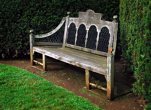 old wooden bench Bench Pinterest Bancos y Jardines