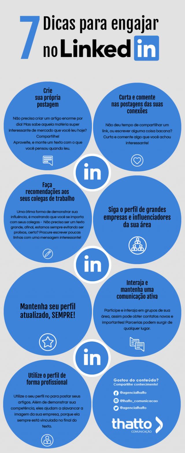 7 Dicas para engajar o seu perfil do Linkedin • Th...