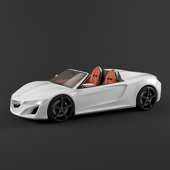 Jaguar F Type 400 Sport Coupe 2017 3d Model: Acura NSX Roadster. Fully Editable And Reusable 3D Model