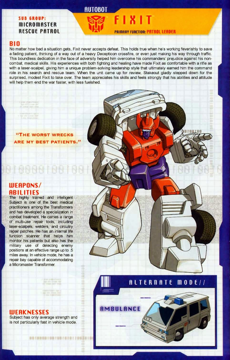 Transformer of the Day: Fixit