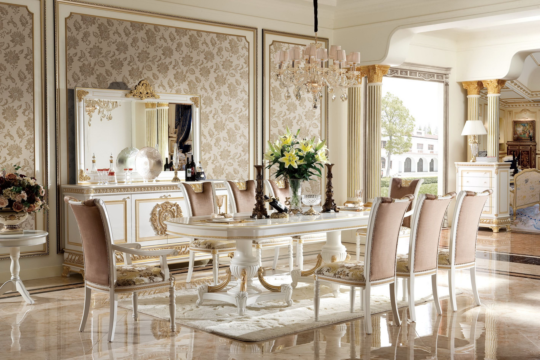 Klassische 4 Stühle Designer Stühle Holz Garnitur Italienische Esszimmer Möbel