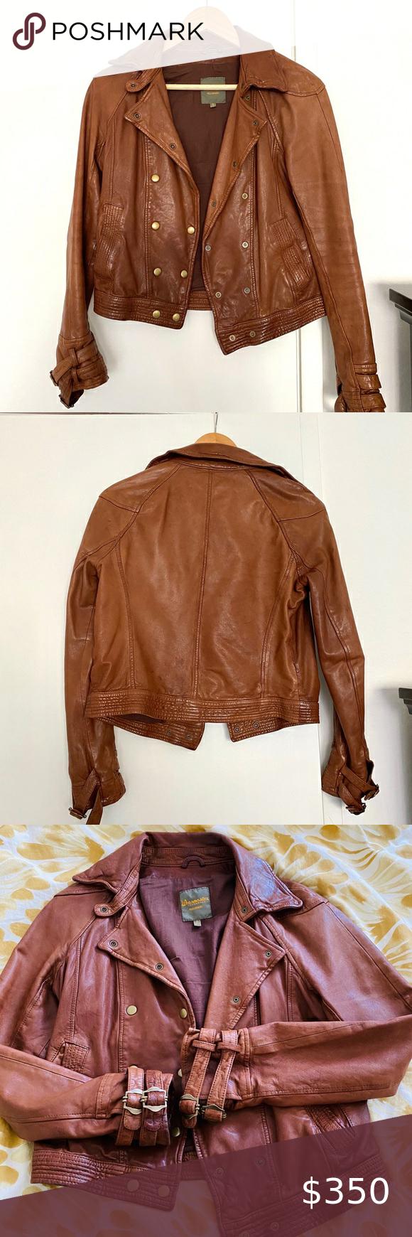 Madewell Wearmaster Brown 100 Leather Jacket Leather Jacket Genuine Leather Jackets Jackets