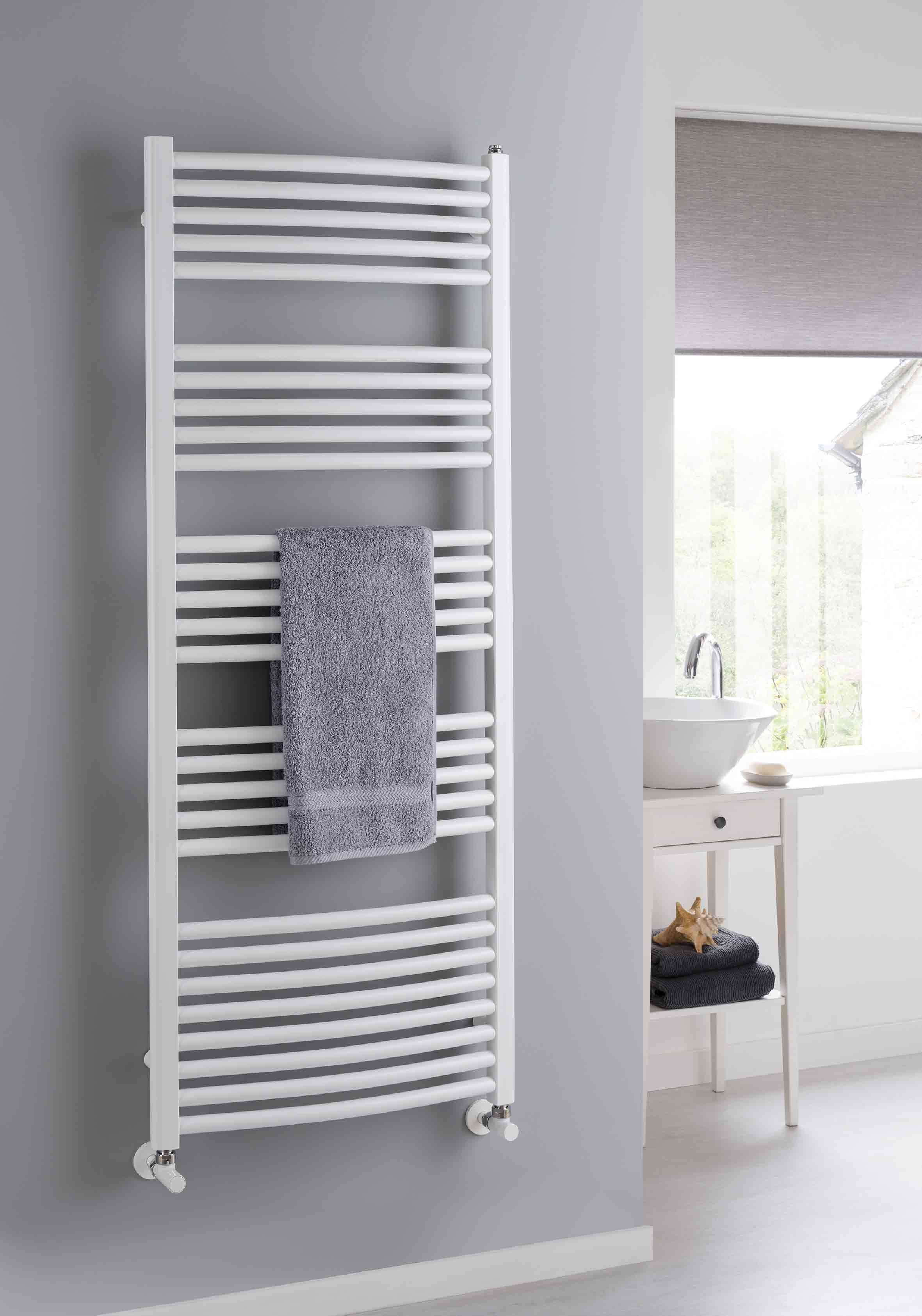 The Radiator Company Poppy Curved White Heated