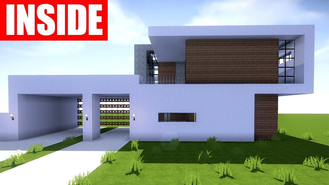 Minecraft Tutorial How to Build a Modern House in Minecraft ...