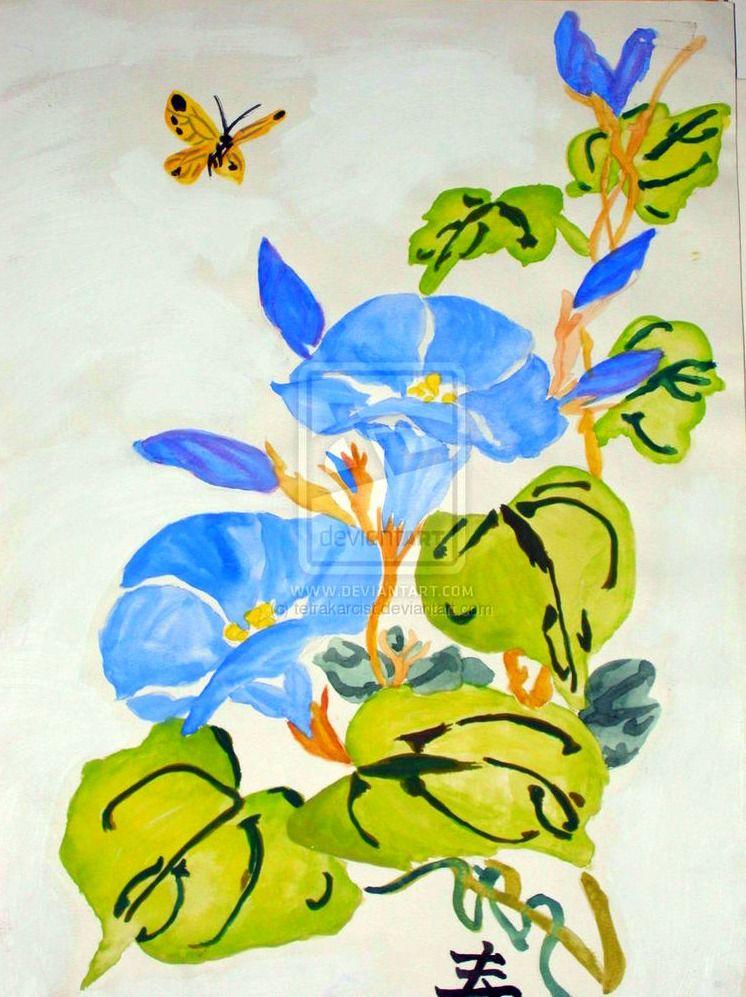 chinese watercolor flowers by rachelannehopper deviantart com on