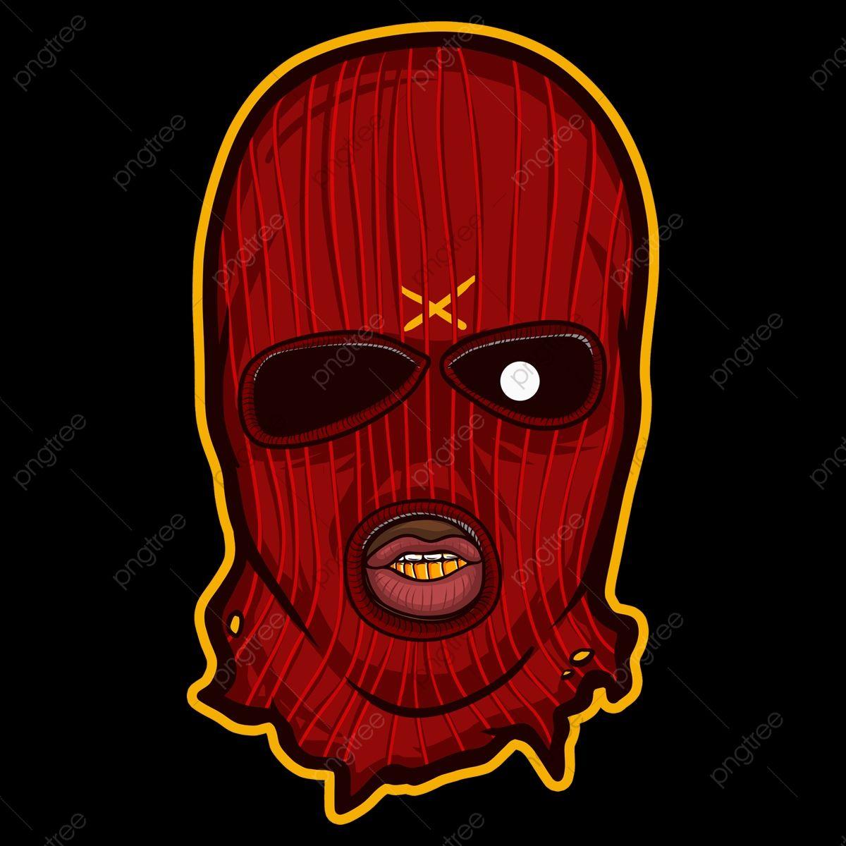 Angry Ski Mask Cartoon Art Artwork Illustration Png Transparent Clipart Image And Psd File For Free Download Masks Art Drip Art Ski Mask Tattoo