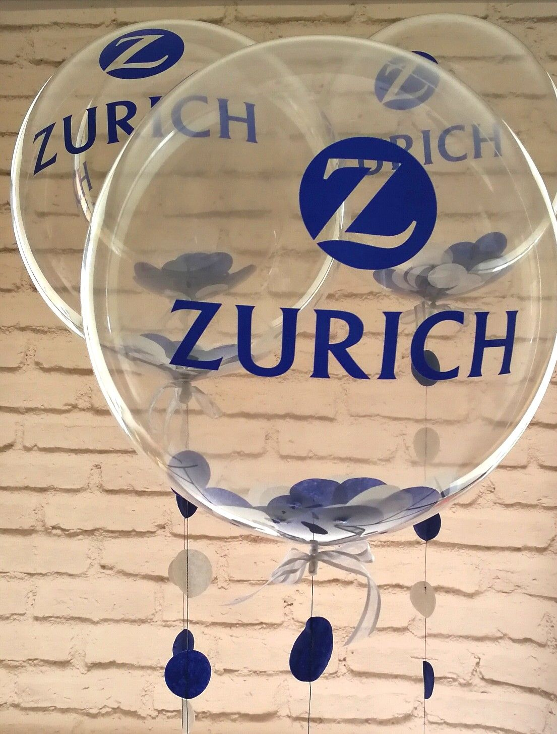 Zurich branded balloons for one of the top insurance firms