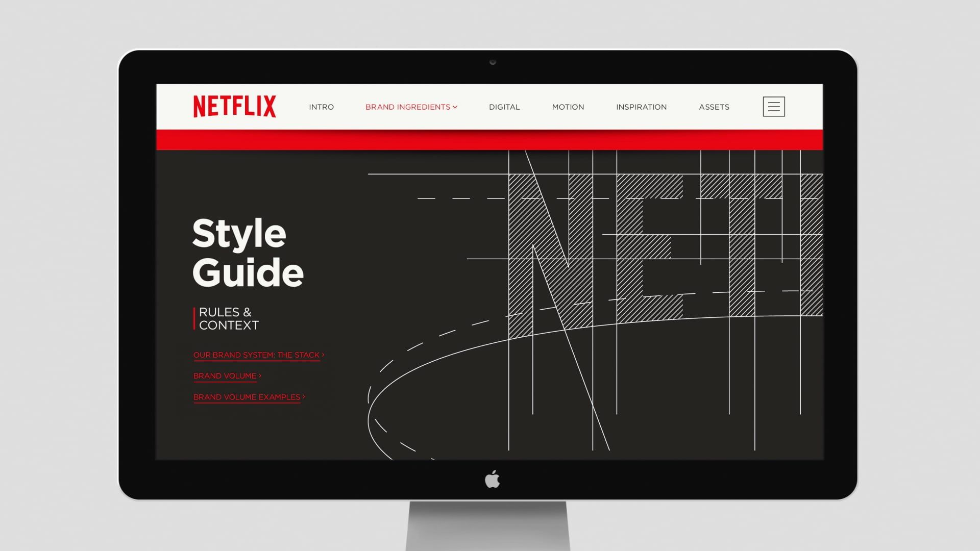 Netflix Branding Brand Hub // The Stack is a visual