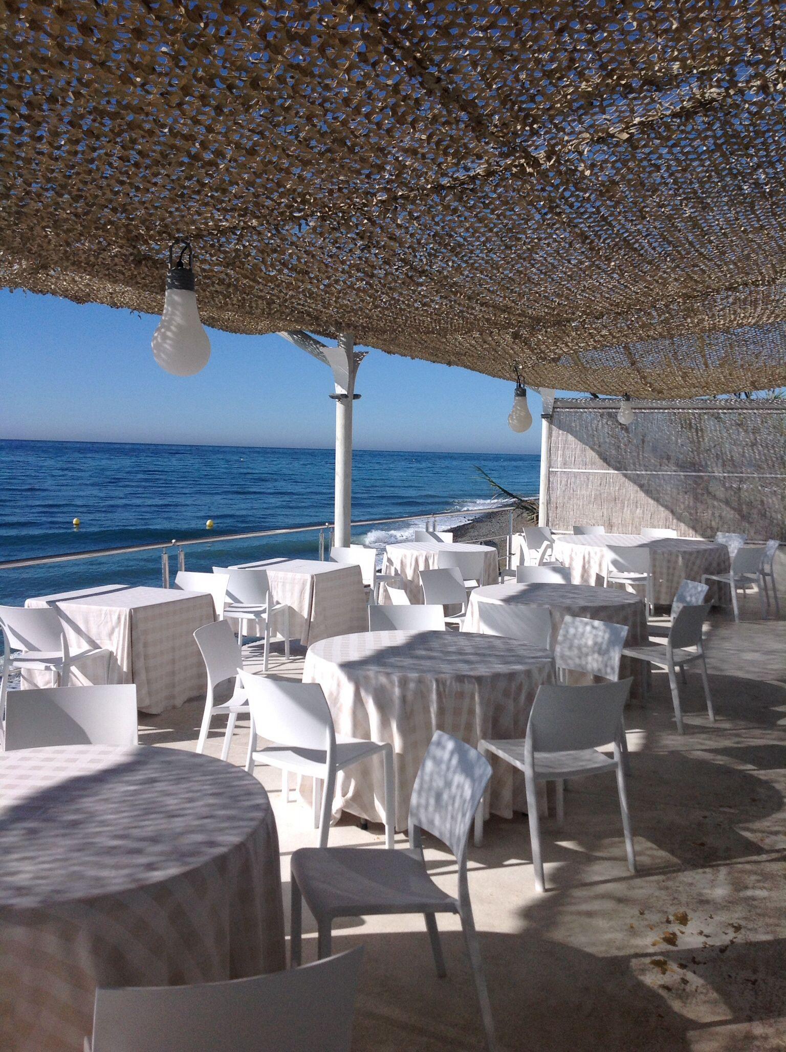 Terraza Del Restaurante El Ancla Marbella Travel In 2019