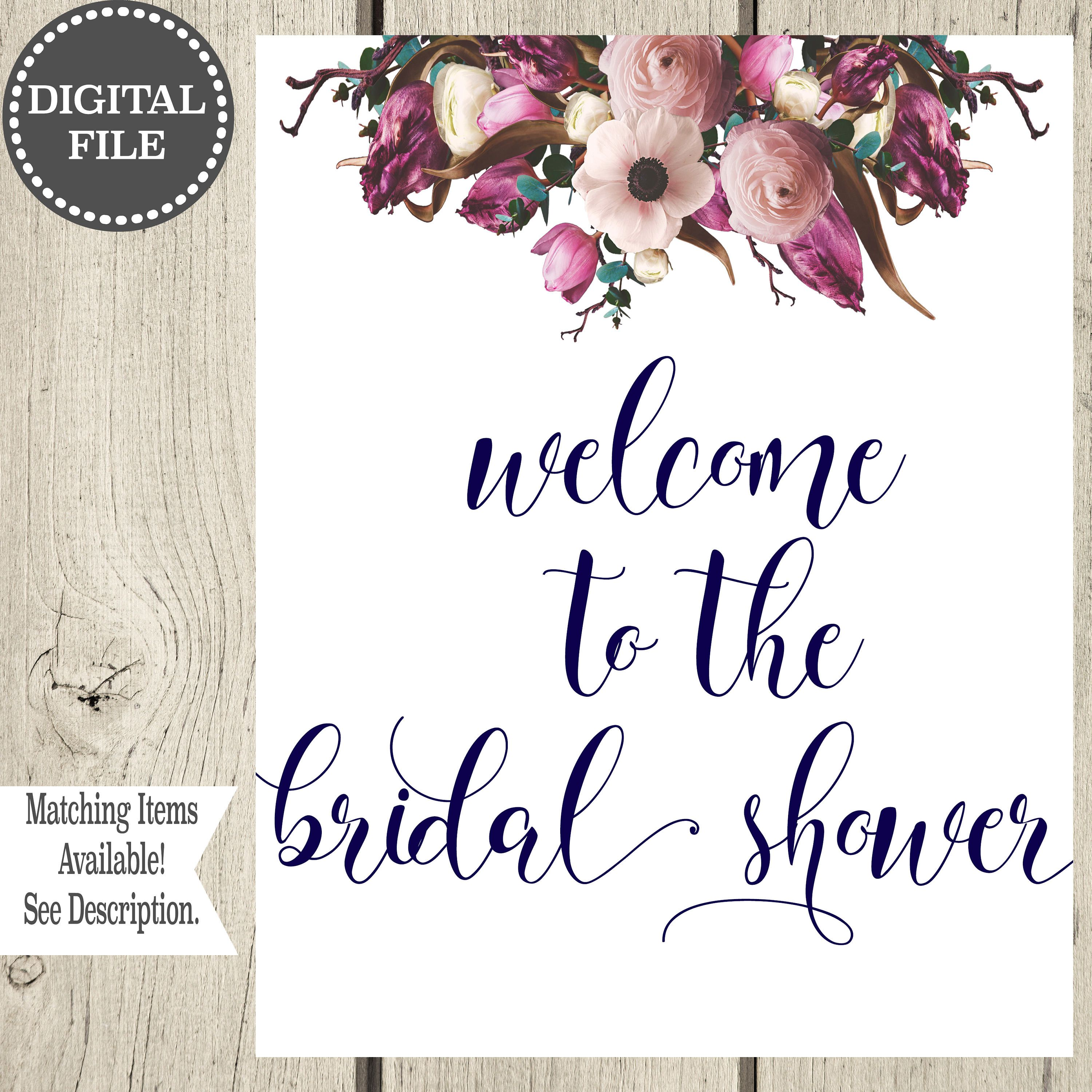 Welcome To The Bridal Shower Printable Bridal Shower Mimosa Bar