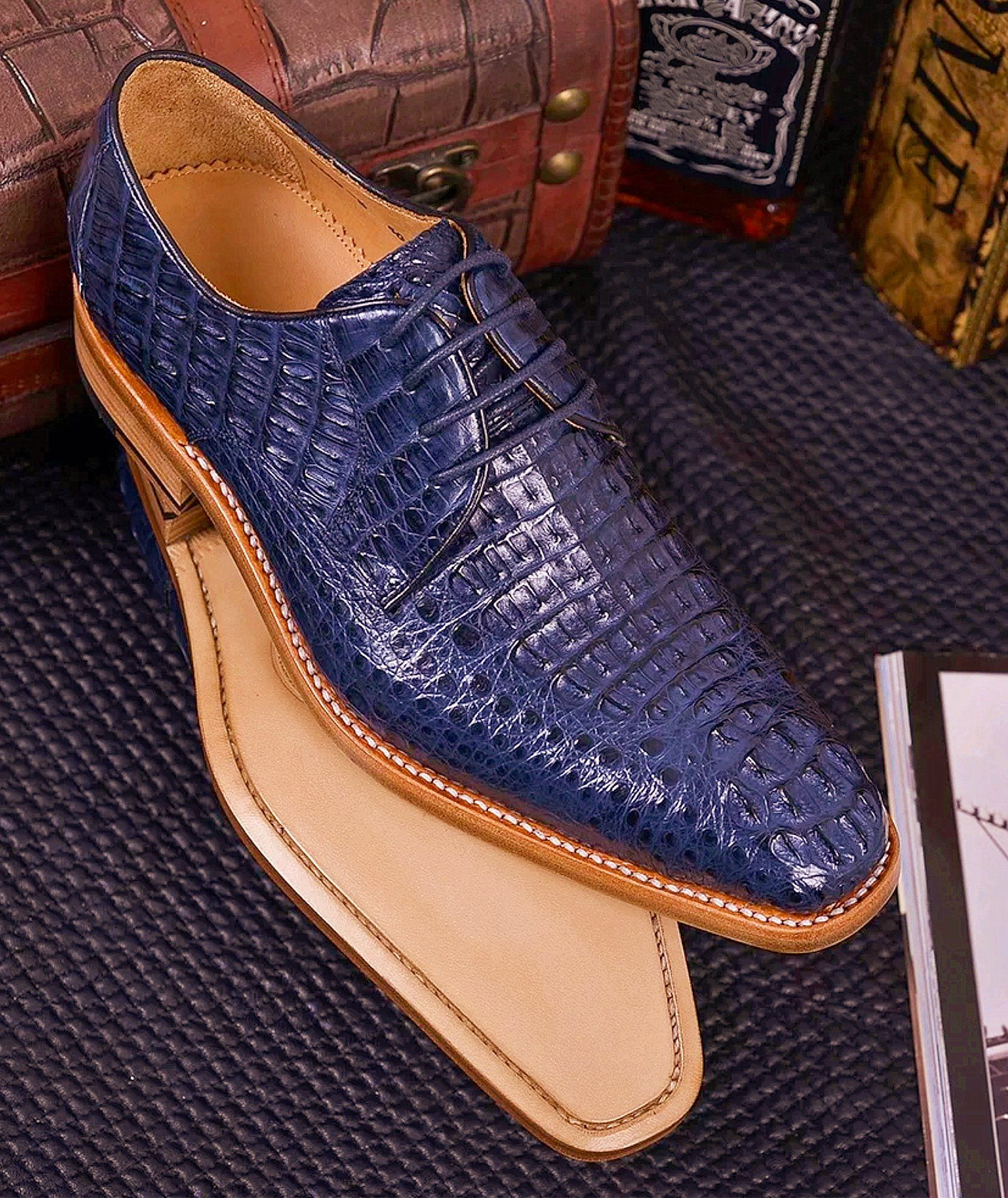 Genuine Crocodile Leather Shoes is part of Crocodile leather shoes - Please click here to determine your shoe size