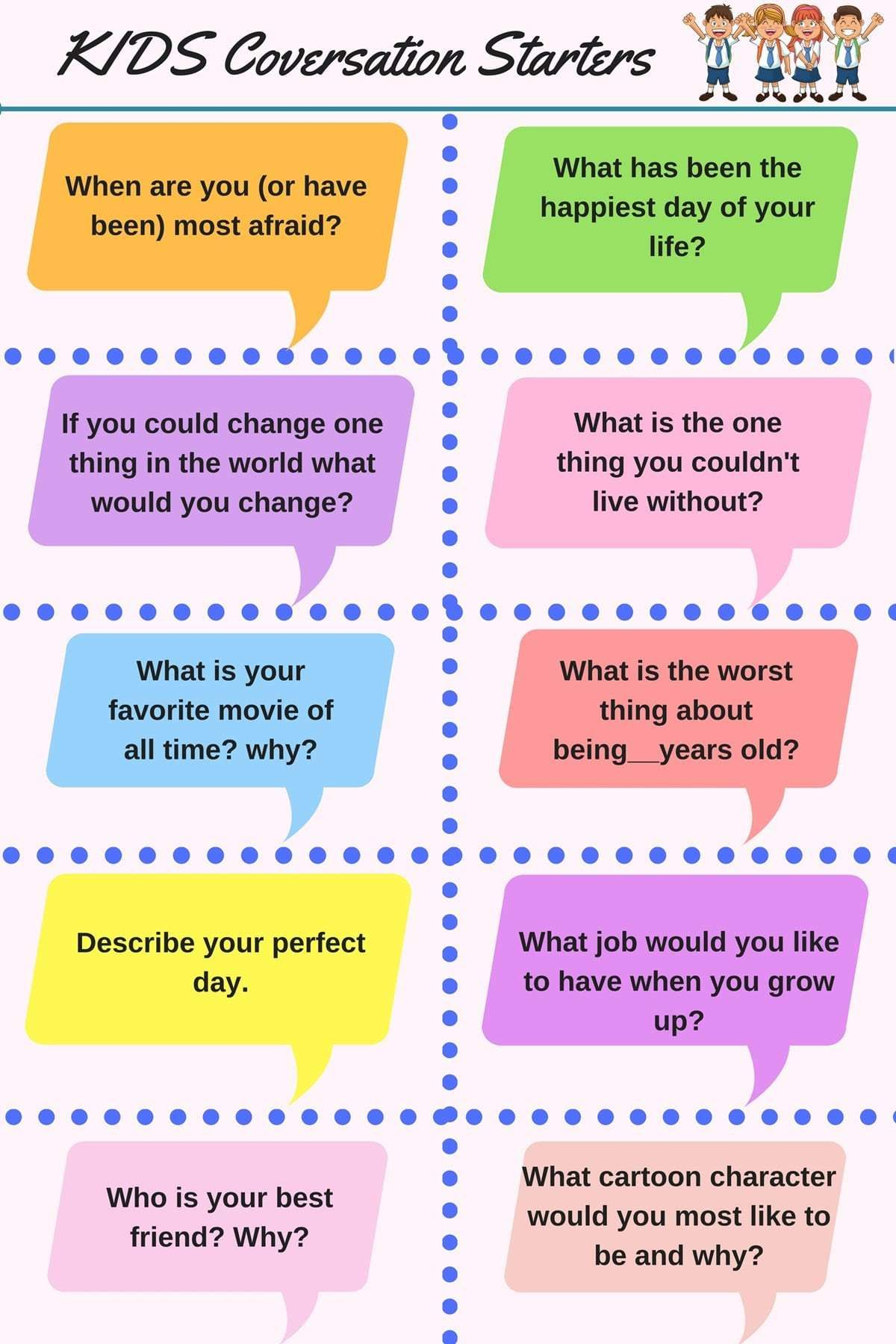 Kids Conversation Starters
