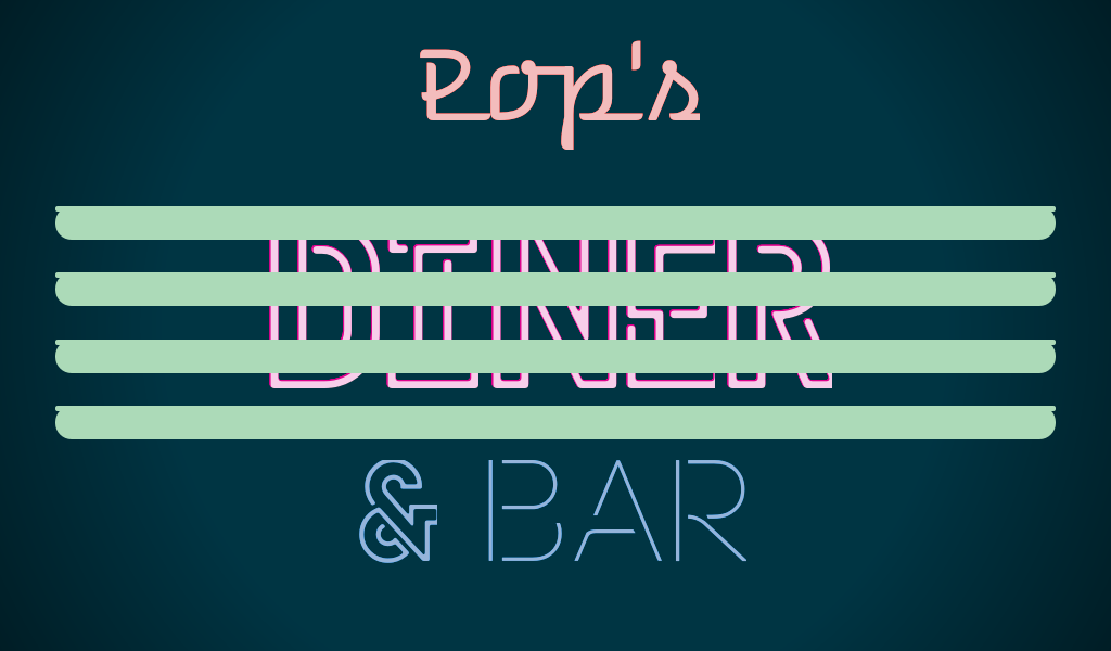 Retro Diner Sign With Some Keyframes For A Flickering Effect All Css No Images Diner Sign Vintage Neon Signs Neon Signs