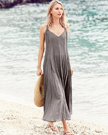 dbfcd39b8f7 Our Cotton Gauze Maxi Cover-Up takes you from pool to party with a  flattering fit in crinkled cotton gauze.