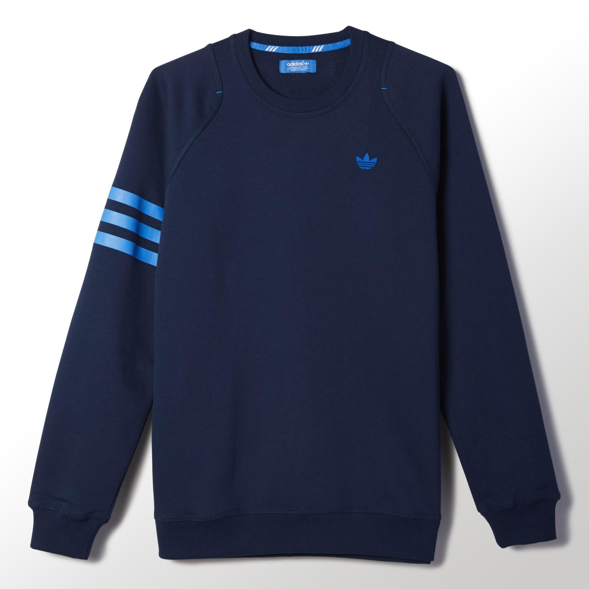 61c518a5cac27 This men s sweatshirt presents a creative take on the 3-Stripes. Cut slim