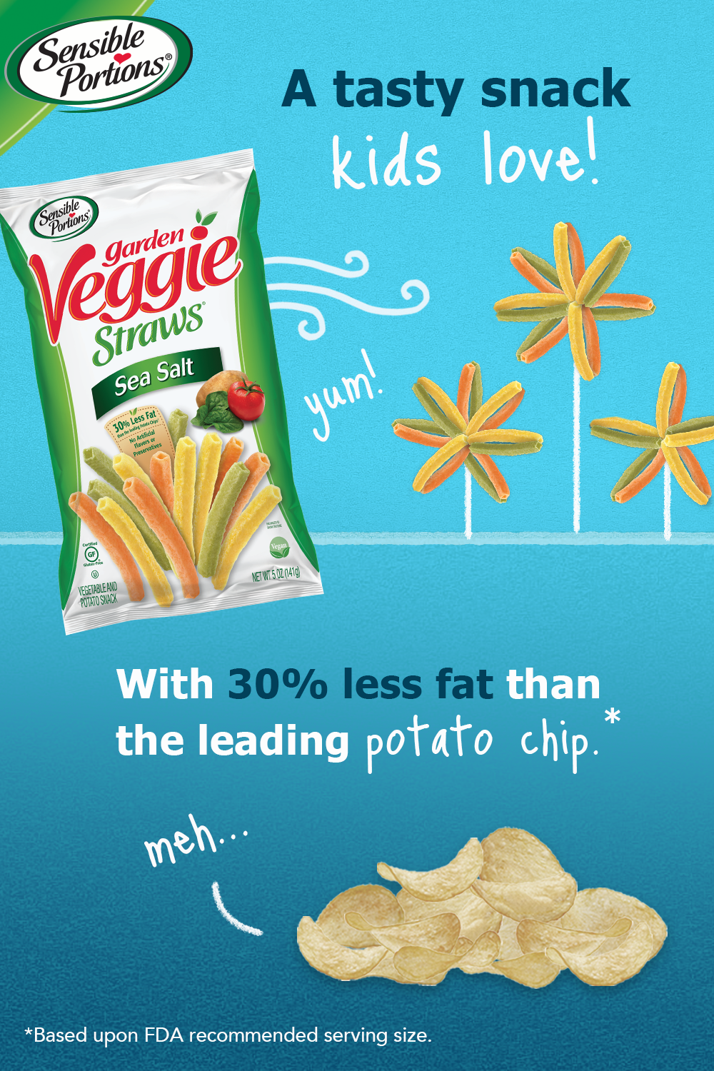 3 Reasons Sensible Portions Garden Veggie Straws Really Are The Sensible Snack Choice Snacks Veggie Straws Enjoy Snacks
