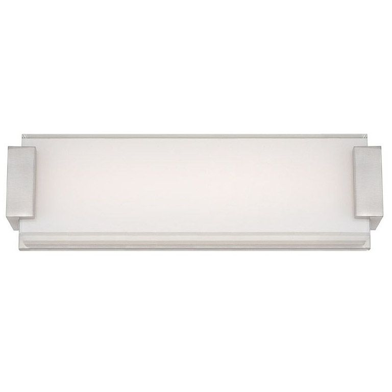 The Polar Inch Bathroom Vanity Light Features Mitered Glass With - 18 inch bathroom light fixture