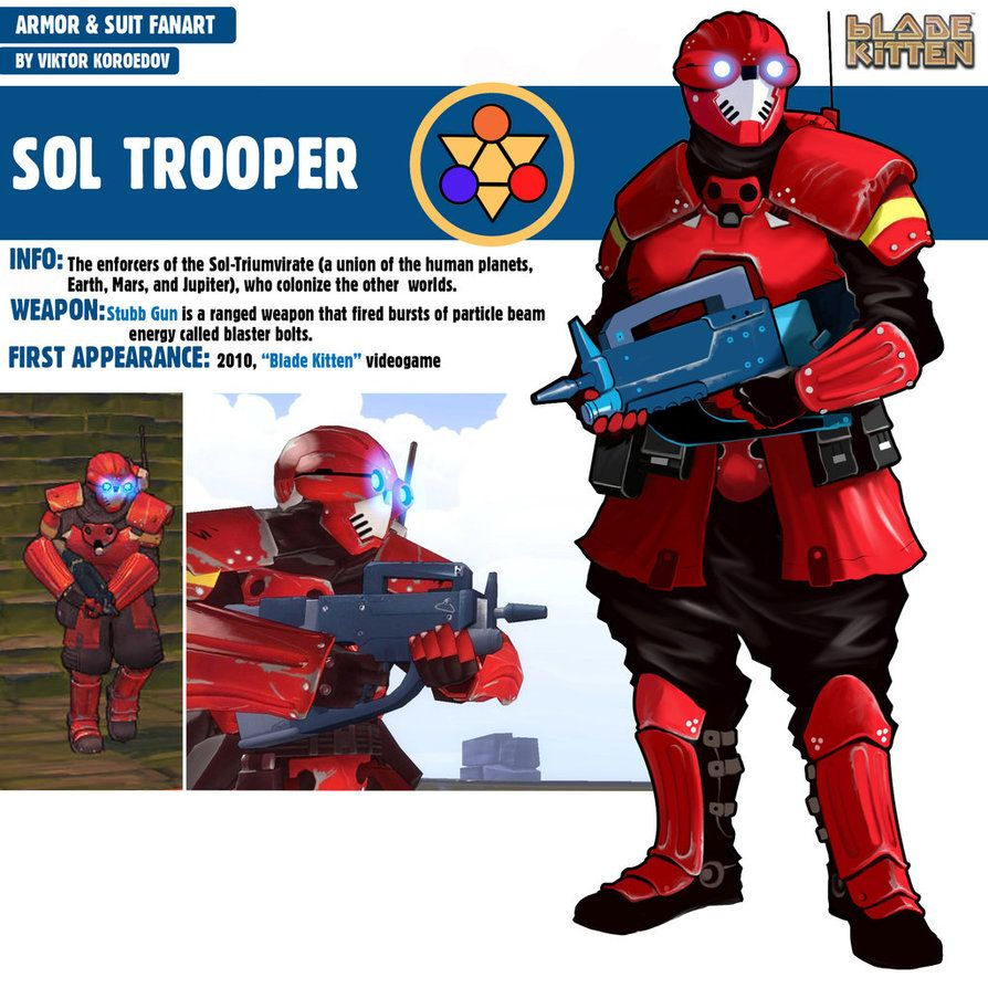 Sol Trooper Blade Kitten By Pino44io Deviantart Com On Deviantart Trooper Futuristic Art Armor Concept