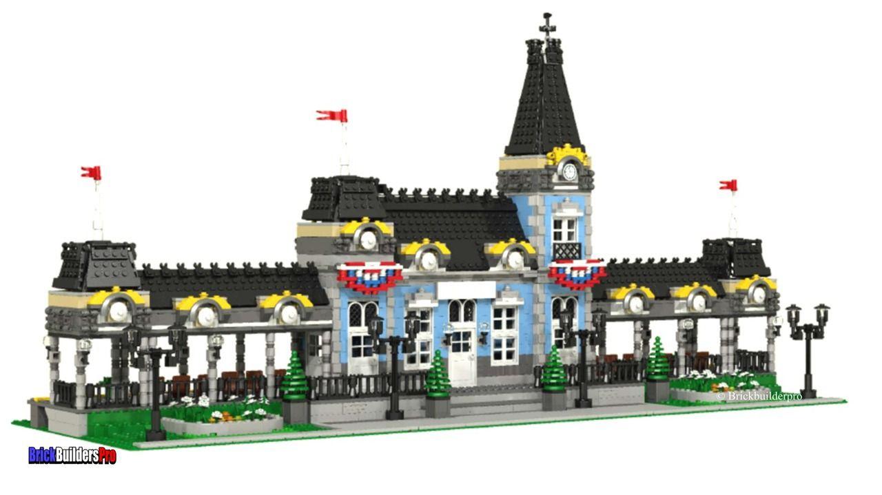 Queens Bridge Victorian Train Station Instructions Lego Train Station Lego Trains Lego House
