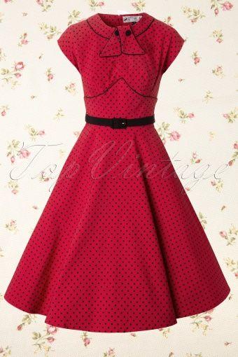 Bunny  Noreen Dress Swing Red Black Polkadot 106 27 12100 20140106 0004W