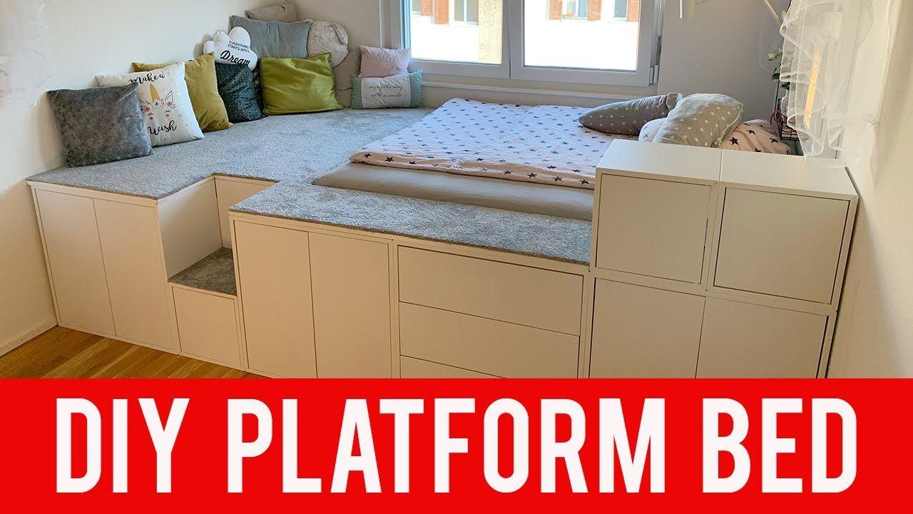 Ikea Diy Hack Platform Bed Youtube Diy Platform Bed Ikea Platform Bed Ikea Diy