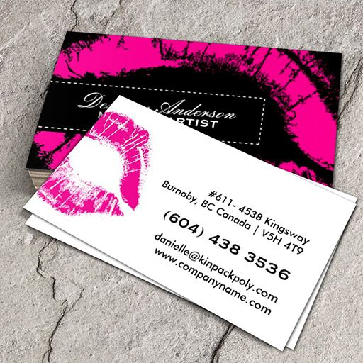Hot pink makeup business cards you can customize this card with hot pink makeup business cards you can customize this card with your own text reheart Choice Image