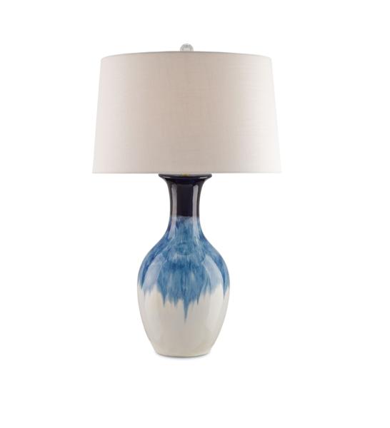 Ceramic Blue Ombre Lamp Lamp Blue Ombre Ceramics