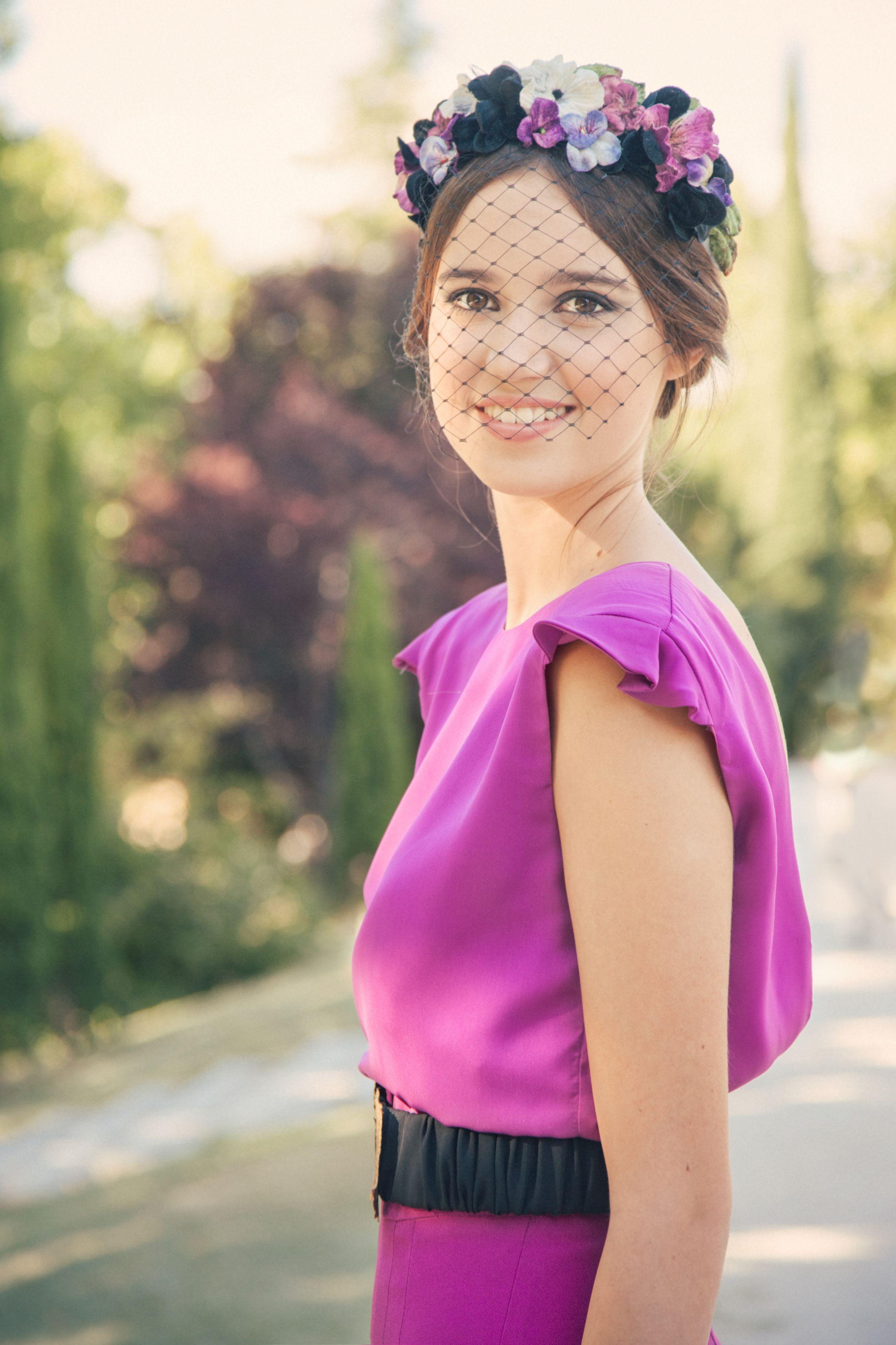 invitada de boda de lamasmona.com | Tocados y Pamelas | Pinterest ...