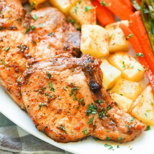 Oven Baked Pork Chops #ovenbakedporkchops Oven Baked Pork Chops - Immaculate Bites #ovenbakedporkchops