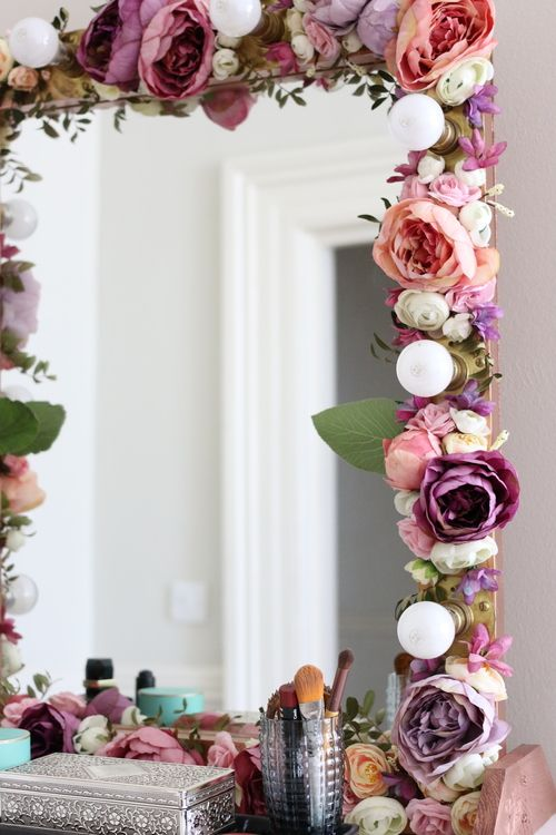 Floral Make Up Mirror