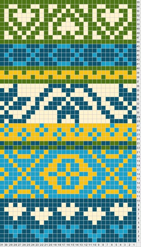 Banded inspiration for California fair isle design. Would make a ...